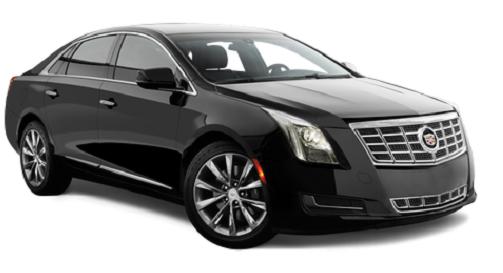 Svart ny Cadillac luksusbil