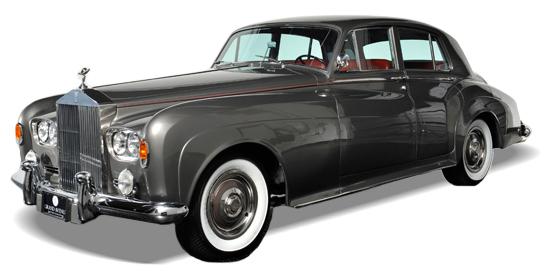 Vintage luksusbil. Rolls-Royce klar for bryllupstransport